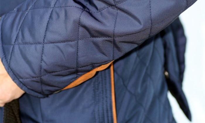 37c27cf1474c7 Pikowana kurtka męska: 2 kolory | Groupon