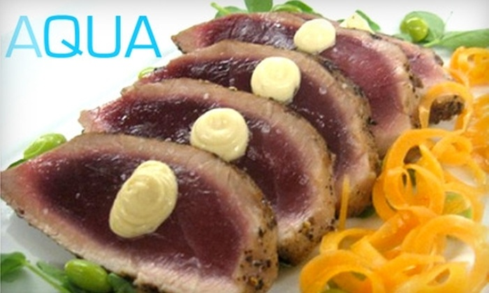 Aqua Kitchen and Bar - Downtown: $30 for $60 Worth of Dinner Fare or $10 for $20 Worth of Lunch Fare at Aqua Kitchen and Bar