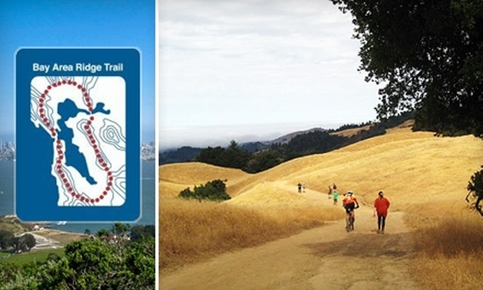 Bay Area Ridge Trail Council - San Francisco: $35 for a One-Year Family Membership and Trail Guidebook from Bay Area Ridge Trail Council ($70 Value)