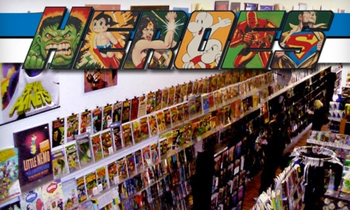 Heroes - Central London: $10 for $20 Worth of Comic Books, Collectibles and More at Heroes