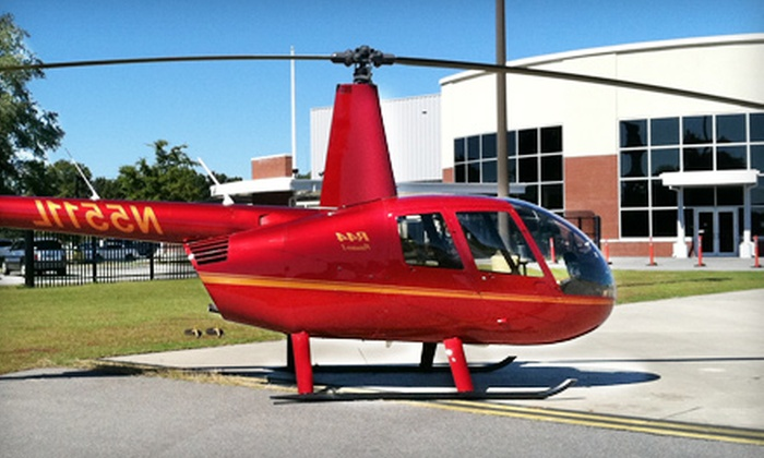 Charleston Helicopters - North Charleston: Downtown and Harbor Tour, Romantic Sunset Tour, City Lights Tour, or Sunset Flight with Champagne from Charleston Helicopters