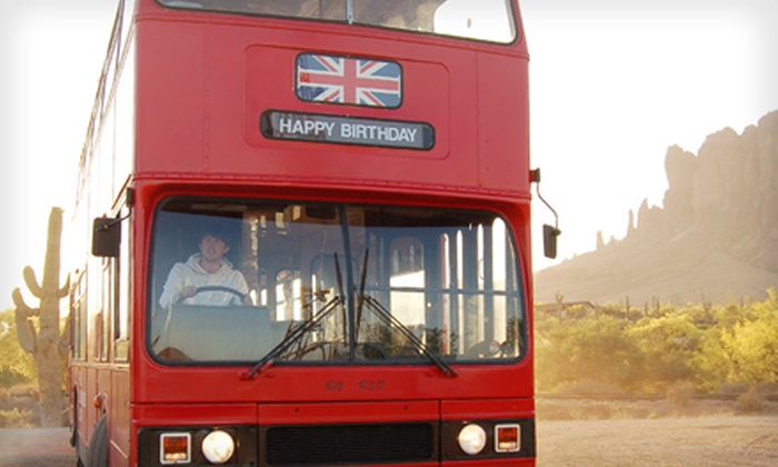 The Real London Bus Company - Downtown Phoenix: $20 for a Pub, Christmas-Light, or Treasure-Hunt Tour from The Real London Bus Company ($40 Value)