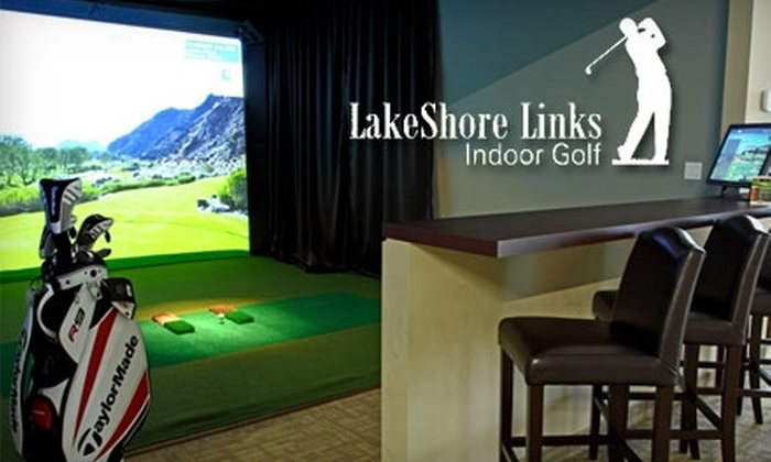 LakeShore Links Indoor Golf - Toronto: $50 for Three Hours in a Golf Simulator and $15 Worth of Pub Fare and Drinks at LakeShore Links Indoor Golf (Up to $150 Value)