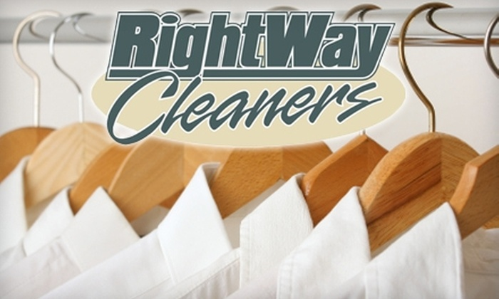 Right Way Cleaners - Multiple Locations: $15 for $30 Worth of Dry Cleaning and Laundry Services at Right Way Cleaners