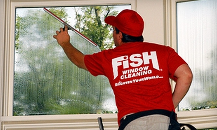Fish Window Cleaning - Lone Star Park: $35 for $80 Worth of Residential Window and Gutter Cleaning from Fish Window Cleaning