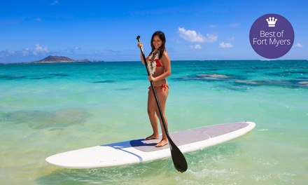 One or Two 2-Hour Standup-Paddleboard Rentals with Cabana Rental or Chair Umbrella Set (Up to 58% Off)