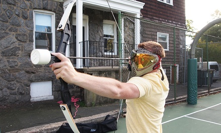 Mobile Outdoor Archery Tag Events for Up to 10 or Laser Tag Party for Up to 12 at First Person Sports (30% Off)