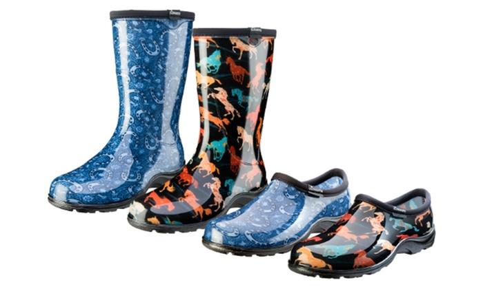 Sloggers Horse Print Women\u0027s Waterproof Garden Shoes or