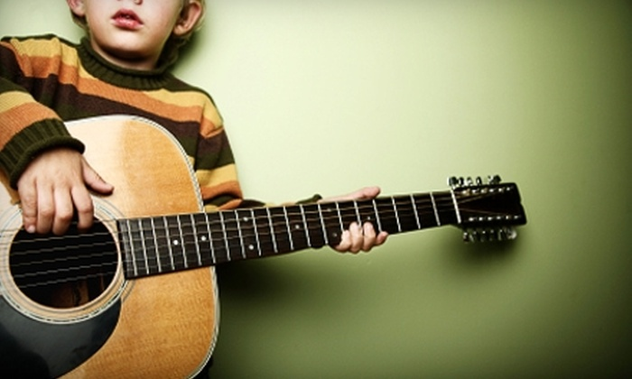 Riff Factory - Multiple Locations: Two Private Music Lessons or Four Kids' Jam Sessions at Riff Factory