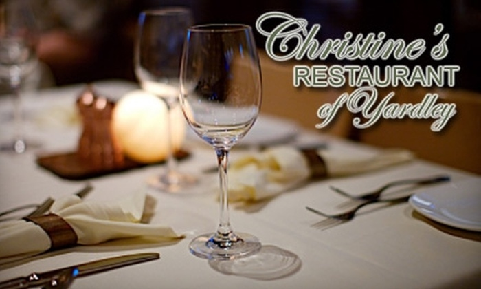 Christine's Restaurant - Lower Makefield: $20 for $40 Worth of Italian-Inspired Cuisine at Christine's Restaurant