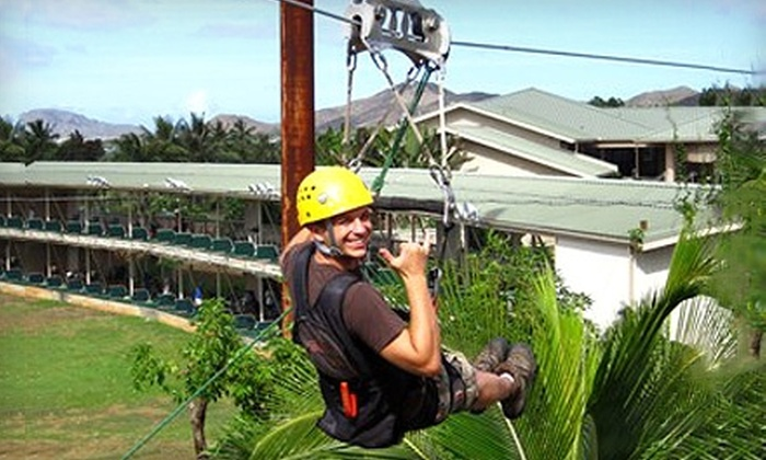 Bay View Mini-Putt and Zipline - Kaneohe: $50 for Zipline Experience and 18 Holes of Mini Golf for Two at Bay View Mini-Putt and Zipline in Kaneohe (Up to $100 Value)