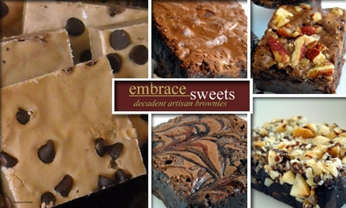 Embrace Sweets  - Houston: $22 for a Dozen Gourmet Brownies (Including Shipping) from Embrace Sweets ($49 Value)