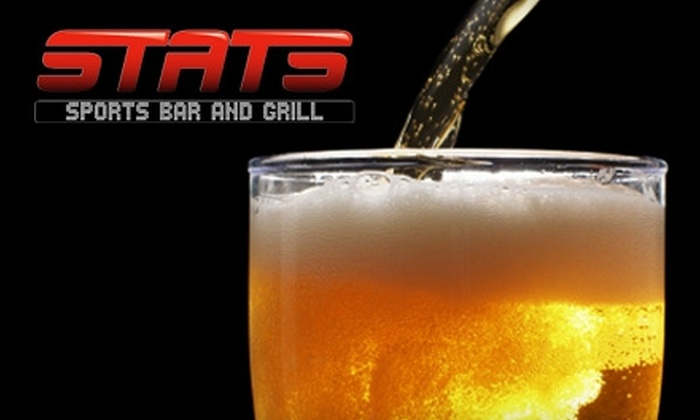 Stats Sports Bar and Grill - Vintage Lakes: $6 for $12 Worth of Grill Fare at Stats Sports Bar and Grill