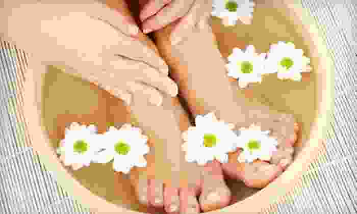 Dracut Luxor Nail and Organic Spa - Dracut: One or Two Deluxe Mani-Pedis or One Hot-Stone Mani-Pedi at Dracut Luxor Nail and Organic Spa (Up to 59% Off)