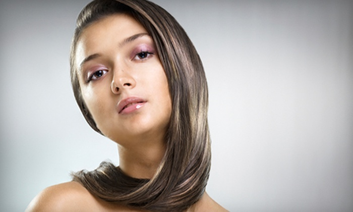 Shannon Leigh's Salon - Medina: Color Package with Haircut or Brazilian Blowout Package with Haircut at Shannon Leigh's Salon (Up to 62% Off)