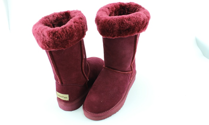 48491d6f762 Snow Paw Sheepskin Boots | Groupon Goods