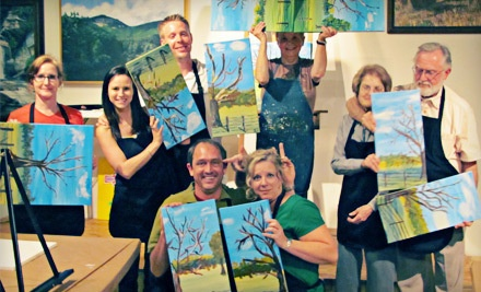 Corks and Colour BYOB Art Class for One (a $35 value) - Southern Galleries in Simpsonville