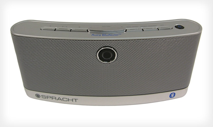 Portable Wireless Bluetooth Speaker: $39.99 for Spracht Aura BluNote Portable Wireless Speaker ($99 List Price). Free Returns.