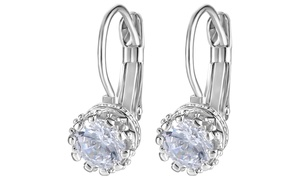 Crystal Crown Earrings With Swarovski Elements