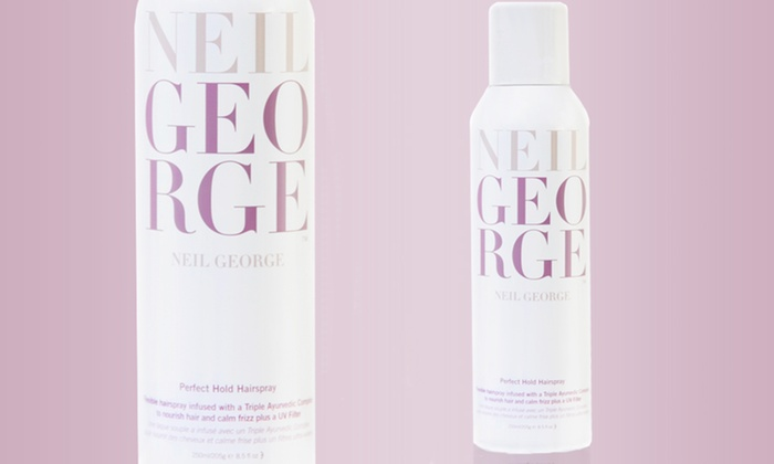 Neil George Perfect Hold Hairspray: $13.99 for Neil George Perfect Hold Hairspray; 8.5 Oz. ($22 List Price)