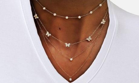 1 o 2 collares de 4 cadenas en un collar