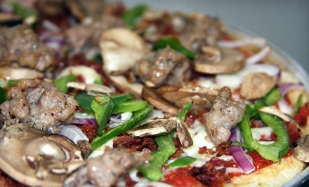 $20 Groupon to Grand Rapids Pizza & Delivery - Grand Rapids Pizza & Delivery in Grand Rapids