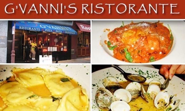 G'Vanni's Ristorante - North End: $25 for $50 Worth of Italian Cuisine and Drinks at G'Vanni's Ristorante