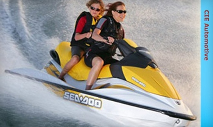 CIE Automotive Water Sports - Multiple Locations: $65 for One-Hour Jet Ski Rental for Two from CIE Automotive Water Sports