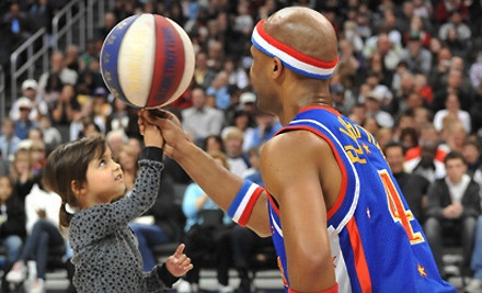 Harlem Globetrotters at Stockton Arena on Tue., Jan. 17 at 7PM: Section 102, 114, 116, 127, Rows 4-10; or 107, 109, Rows B-D - Harlem Globetrotters in Stockton