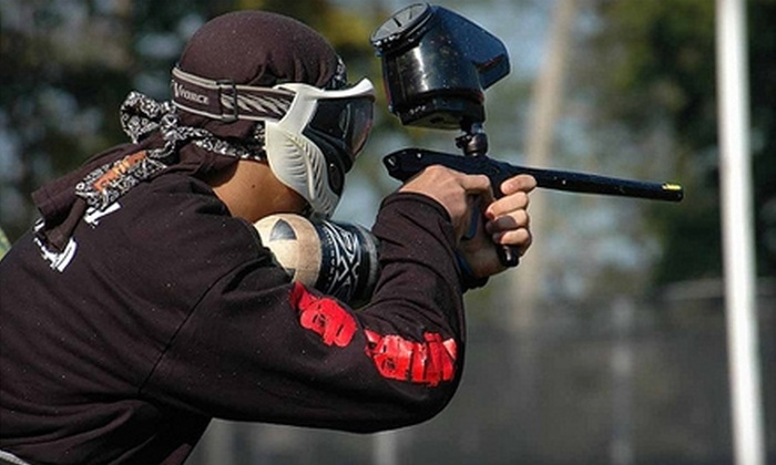 Paintball Adventure Park - Baltimore: $17 for an All-Day Paintballing Session with Equipment and 500 Paintballs at Paintball Adventure Park in Taneytown ($35 Value)