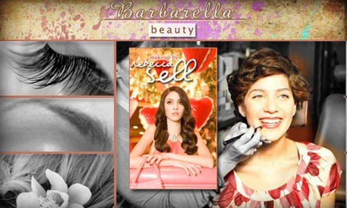 Barbarella Beauty and Kiss and Make-Up - Multiple Locations: $25 for $55 Worth of Makeup & Beauty Services at Barbarella Beauty and Kiss and Make-Up