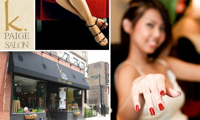 K. Paige Salon - DePaul: Today's Feature Deal for K. Paige Mani-Pedis Has Sold Out, but Take Advantage of K. Paige's New Offer: $37 Dermalogica Facials