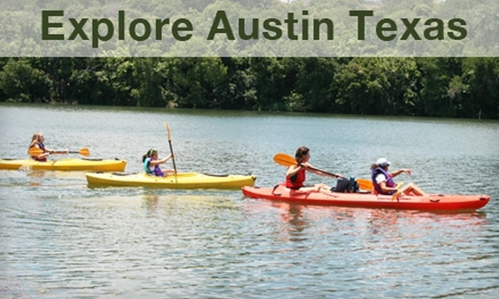 Explore Austin Texas - South River City: $32 for a Guided Kayak Tour or Bicycle Scavenger Hunt, Plus a Lifetime Membership Card for Exclusive Austin Discounts, from Explore Austin Texas ($65 Value). Choose Your Activity.