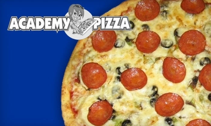 Academy Pizza - Bruce Park: $12 for $25 Worth of Thin-Crust Pizza and More at Academy Pizza