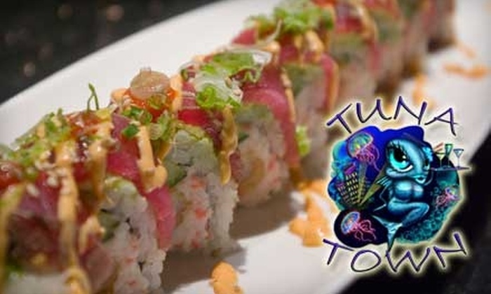 Tuna Town Sushi Bar and Teppan Yaki Grill - Downtown Huntington Beach: $20 for $45 Worth of Fresh Fare and Drinks at Tuna Town Sushi Bar and Teppan Yaki Grill