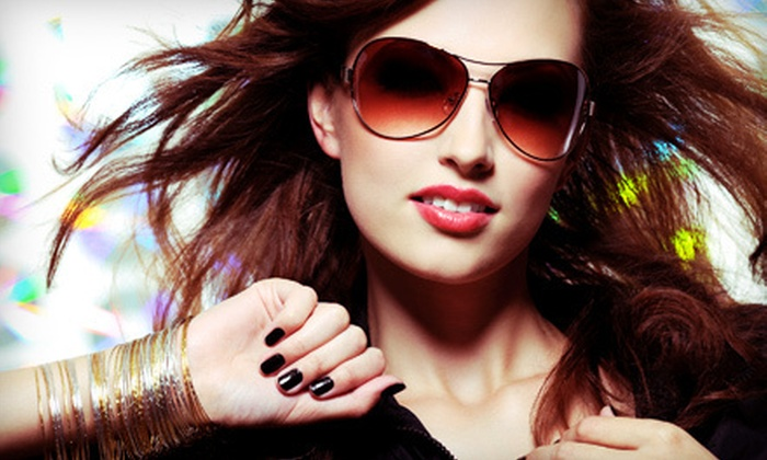 Hair and Nails by Amy - Topeka: Shellac Manicure or Salon Package with Cut, Color, and Style at Hair and Nails by Amy (Up to 54% Off)