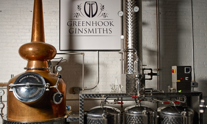 Greenhook Ginsmiths - Greenpoint: Distillery Tour and Gin Tasting for Two, Four, or Six at Greenhook Ginsmiths (68% Off)