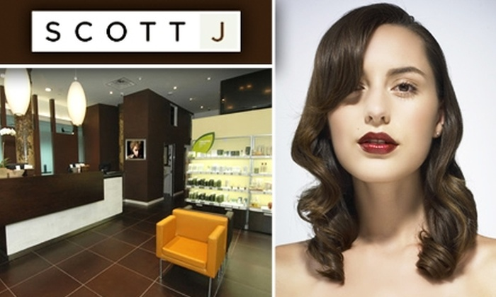 Scott J Salons - Multiple Locations: $50 for $100 Worth of Salon and Spa Services at Scott J. Lifestyle Salon & Spa