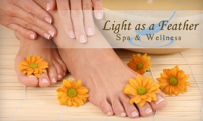 Light as a Feather Spa & Wellness - Oak Ridge: $35 for a Classic Manicure and Pedicure at Light as a Feather Spa & Wellness ($75 Value)