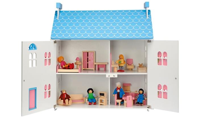 maison de poup e bois classique groupon shopping. Black Bedroom Furniture Sets. Home Design Ideas