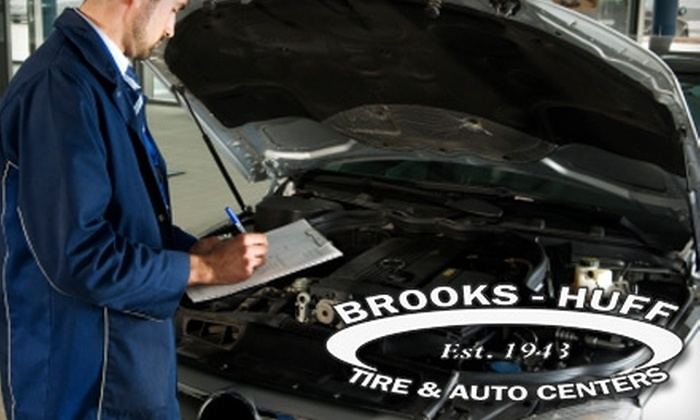 Brooks-Huff Tire & Auto Center - Multiple Locations: $30 for Oil Change, Tire Rotation, and Winter Check-Up at Brooks-Huff Tire & Auto Center ($105 Value)