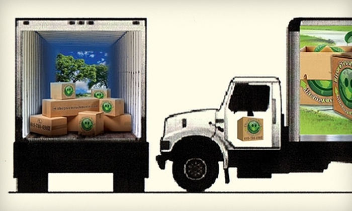 The Green Truck Moving Company - Hendersonville: $85 for Two Hours of Moving from The Green Truck Moving Company (Up to $170 Value)