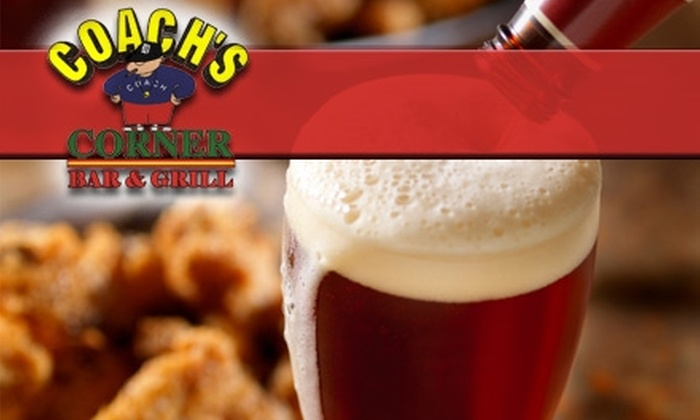 Coach's Corner Bar and Grill - Livonia: $10 for $25 Worth of Pub Grub and Potables at Coach's Corner Bar and Grill