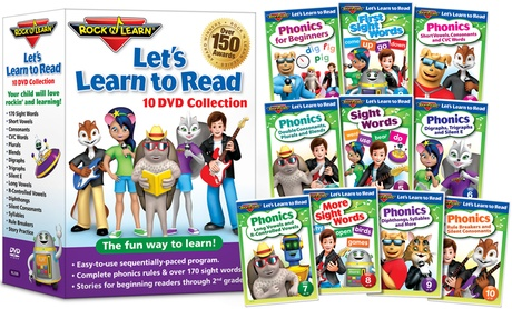 Let's Learn to Read 10-DVD Collection by Rock 'N Learn ccb60aaa-ea27-11e6-8b8f-00259069d7cc