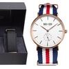 SO & CO New York Men's Canvas Interchangeable Strap Watch Set