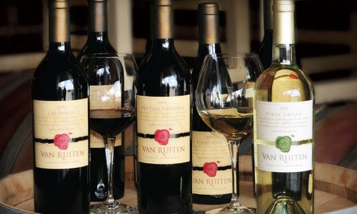 Van Ruiten Family Vineyards - Lodi: Wine Tasting, Wine Glasses, and Bottles of Wine for Two or Four at Van Ruiten Family Vineyards (Up to 53% Off)