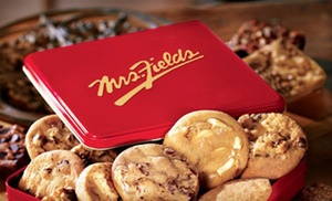 Mrs. Fields Madison Ave.: 30-Cookie Party Tray or a Party Tin with 48 or 96 Cookie Nibblers from Mrs. Fields Madison Ave. (Up to 38% Off)