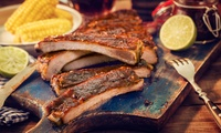 BBQ-Platte mit Spareribs, Chicken Wings und Beilagen für 2, 4 oder 8 Pers. im Bachmaier Hofbräu (bis zu 43% sparen*)