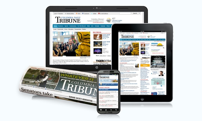 Columbia Daily Tribune: $32 for a 26-Week Subscription for Home Delivery and Unlimited Online Access to Columbia Daily Tribune ($95 Value)