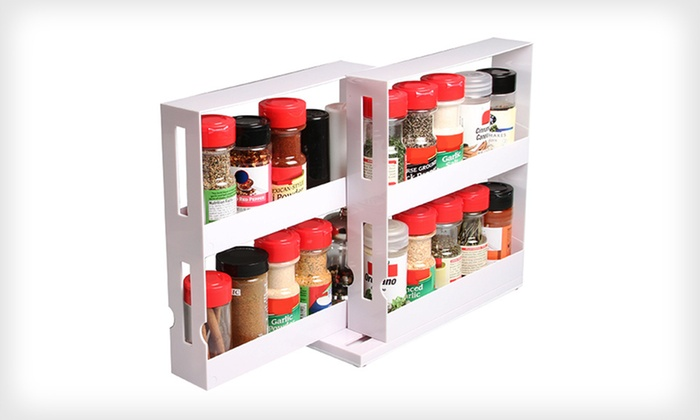 Swivel Store Deluxe: $16 for Two Deluxe Swivel Store Spice Organizers ($39.98 List Price). Free Shipping and Free Returns.